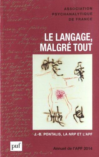 Annuel de l'APF, 2014 : Le langage, malgré tout