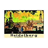 Advert Heidelberg Rail City Paintings Black Framed Art