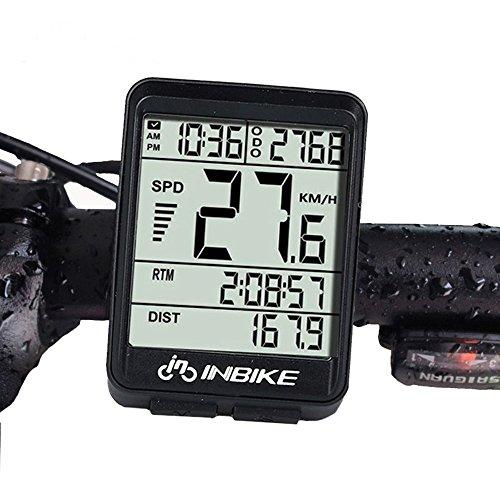 YZCX Fahrradcomputer Kabellos Wasserdicht Fahrrad Computer Drahtloser Fahrradtacho LCD-Hintergrundbeleuchtung Tachometer für Radsport Realtime Speed Track