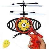 Flying TargetFliegende Zielscheibe-Dartscheibe mit Pistole und 2 Soft Bullets!Versuche die fliegende Zielscheibe zu tref