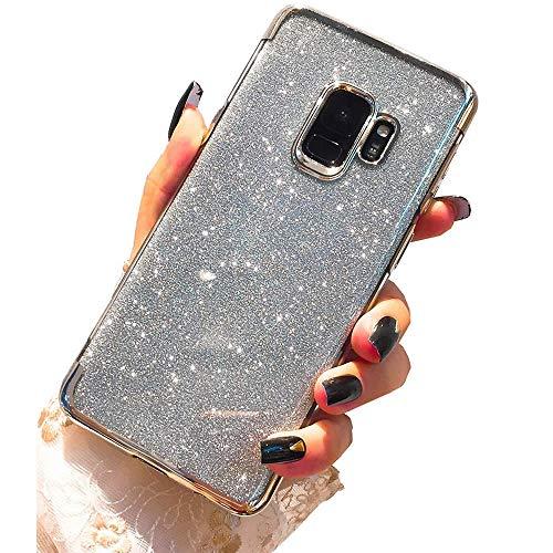 Miagon 2-1 Glitzer Hülle für {Samsung Galaxy J6 2018},Luxus Glitzer Bling Überzug Hülle Handyhülle Slim Case Schale Leicht Dünn Schutzhülle Glänzendes