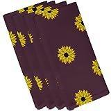E By Design n4fn346pu11–19Sonnenblume Frenzy Blume Drucken Serviette, 48,3x 48,3cm violett