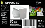 50 weiße Inkjet PVC Karten für Kartendrucker - beidseitig bedruckbar von Dr. Inkjet