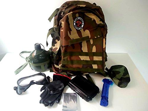 10 in 1 Selbsthilfe Außen Multifunktions Outdoor Survival Kit Erste Hilfe Sicherheit Wandern...