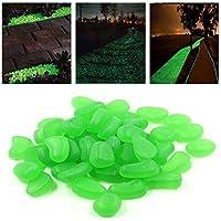 Piedras luminosas fluorescentes (100 unidades) artificiales para acuario, jardín, acera de StillCool