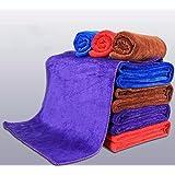 Lavado de coches alquiler de paño de microfibras para limpiar car wash servilletas de tela suministros , marrón ,30*40cm.