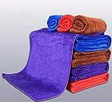 JISHUQICHEFUWU Autowäsche Mikrofasertuch zum Auto waschen Stoffservietten liefert Wischen, Braun, 30 * 40 cm.