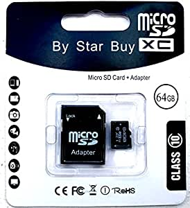 NEW 64GB MICRO SD SDHC MEMORY CARD, CLASS 10...THE HIGH PERFORMANCE CHOICE FOR DIGITAL SOUND & IMAGE CAPTURE* TO WHICH PROVIDES UNIVERSAL COMPATIBILITY WITH OTHER DEVICES USING A FULL-SIZE SD MEMORY CARD SLOT, WITH BUILT IN SECURITY FEATURES, IT ENABLES THE USER TO DOWN LOAD, STORE AND PLAY SECURE CONTENT ...FOR DIGITAL CAMERAS* MOBILE PHONES* GPS* MP3 PLAYERS* AND PDAs....THE LIST GOES ON...PLEASE CHECK YOUR DEVICES SPECIFICATIONS TO ENSURE COMPATIBLITY..THANK YOU