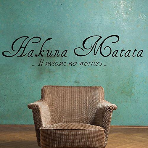 Ambiance-Live Wandtattoo Hakuna Matata - 50 x 75 cm, Schwarz