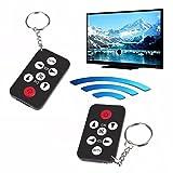 Mini Universal Infrarot IR TV Fernseher Fernbedienung Controller 7 Tasten Schlüsselanhänger Wireless Smart Remote Controller Schwarz (Batterie nicht enthalten)
