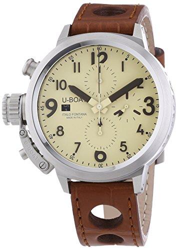 U-Boat  7117 - Reloj de automático para hombre, con correa de otros materiales, color marrón