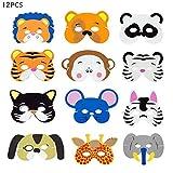 Máscaras de Animales para Niños, Mascarillas de Espuma Foam Animal Masks Para Rellenos de Bolsos de Fiesta, Escenografías de Espectáculos de Fiesta