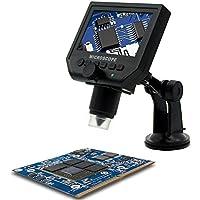 """KKmoon Digital Microscopio Hd 3.6 Mega Pixel con 1080P / 720P / Vga G600Portátil 1-600X 4.3 """" Monitor Pantalla Lcd Vídeo Cámara Grabadora Amplio Uso Incorporado Recargable Litio Batería Eu Enchufe"""
