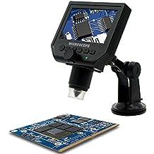Microscope Numérique |4.3 LCD écran, HD 3.6 Mega Pixel with1080P /720P /VGA G600, 1-600x Enregistreur Vidéo pour QC/industriel/ Collection d'Inspection,Intégrée Batterie Rechargeable au Lithium