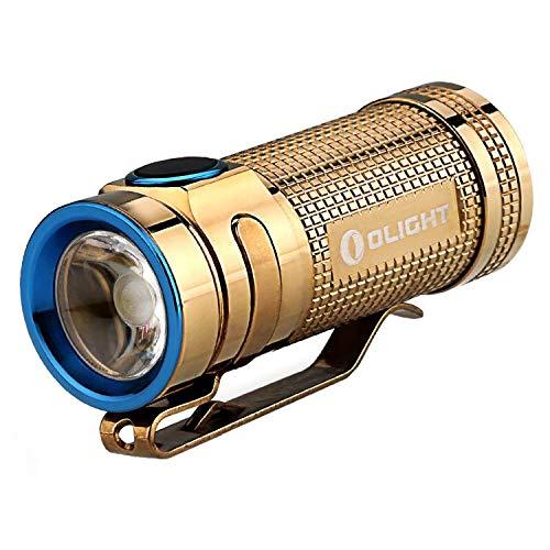 Olight S Mini Klein Taschenlampe CREE XM-L2 Kaltes Weiß 550 Lumens EDC Tasche Tragbar Taschenlampe mit CR123A Batterie und Holster (Kupfer)