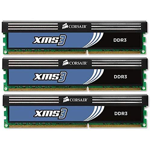 Corsair CMX6GX3M3A1600C9 XMS3 6GB (3x2GB) DDR3 1600 Mhz CL9 Performance Desktop Memory -