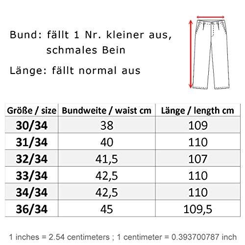 Trueprodigy Herren Jeans Hose Espen Slim Fit blau gewaschen - fällt 1 Nr kleiner aus, schmales Bein Dark Stone