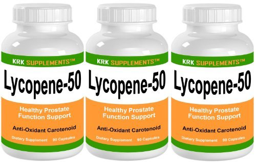 3 Bottles Lycopene 50mg 270 Total Capsules KRK Supplements by KRK SUPPLEMENTS