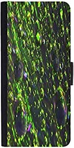 Snoogg Abstract Texture Drops Designer Protective Phone Flip Case Cover For Lenovo Vibe S1