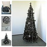 Weihnachtsbaum 1,8m geschmückt und beleuchtet mit LED schwarz