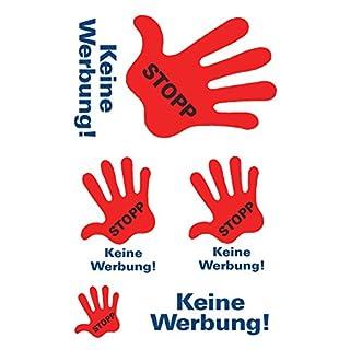 AVERY Zweckform 3741 Keine Werbung Etiketten (Stopp Hand, wetterfeste Folie) 5 Aufkleber rot