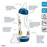 Difrax 8711736045112 Biberon S - Natural - 250 ml - Miffy - Bleu