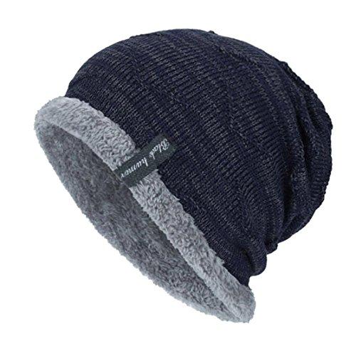 Bluestercool cappello uomo invernale berretto in maglia inverno caldo