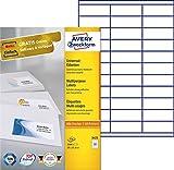 Avery Zweckform 3421 Universal-Etiketten (A4, Papier matt, 3,300 Etiketten, 70 x 25,4 mm) 100 Blatt weiß