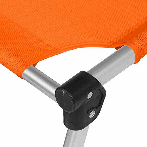 Dreibeinliege XXL sil/ora Gestell:Alu,Bezug:orange Aluminium/Textil