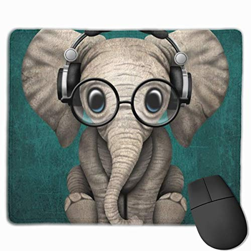 a4b6ead2ec108 Deglogse Tappetino per mouse da gioco, Smooth Mouse Pad Cute Baby Elephant  Dj Mobile Gaming Mousepad Work Mouse Pad Office Pad