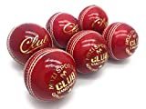 Mozi Sports Cricket Balls Men Hand Stitched Club Ball County Grade A Senior Official Balls Pack Of 6 Weight 5.5oz