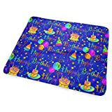 Changing Pad Happy Birthday Blue Cake Portable Diaper Changing Pad - for Baby Showers Changing Mats and Reusable Detachable Wipe Able Mat- Unisex