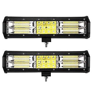 Leetop 2X 180W 36W 120W 72W LED Arbeitsscheinwerfer Off-Road Scheinwerfer Bar Fernlicht 12V-24V Reflektor Lampen IP67 Wasserdicht Zusatzscheinwerfer Flutlicht für Auto Jeep Traktor SUV(180W)