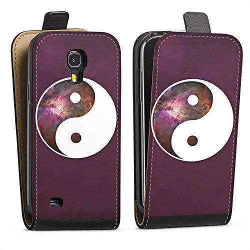 DeinDesign Tasche kompatibel mit Samsung Galaxy S4 Flip Case Hülle Ying Yang Galaxie Galaxy