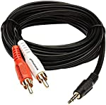 A ONE STAR 5 Meter Stereo AUX 3.5mm Male Jack to 2 Male Speaker Amplifier Connect RCA Audio Video Cable