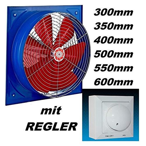 Uzman-Versand KS-600mm Wandventilator und 500 Watt Drehzahlregler Axial Ventilator Gebläse Wand Lüfter Einbauventilator Axialventilator -