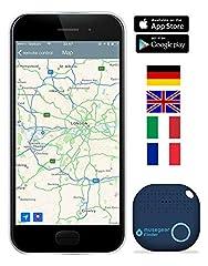 Idea Regalo - musegear® localizzatore Chiavi Bluetooth -Volume 3 Volte più Potente -Colore Blu - Key Finder - Portafoglio Telefono