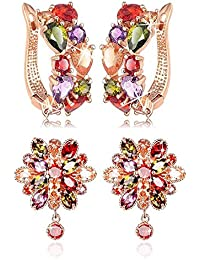 YouBella Stylish Party Wear Jewellery Gold Plated Studs Earrings for Women (Multi-Colour)(YBEAR_32177)