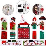 6 Pezzi Pupazzo di Neve Frigorifero Maniglia Copri Forno a Microonde Coperchio Maniglia Decorazioni di Natale e Natale Santa Calendario Conto alla Rovescia