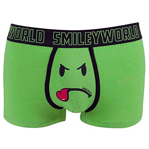 Smiley World Green Friend lustige Boxershort Unterhose Pant Underwear Geschenk für Männer, Scherzartikel witzig frech grüner Smileys 95{f967f3da4122fccd14196c9e3572f335520a15a6deba5a304b56fdc891108bb9} Baumwolle