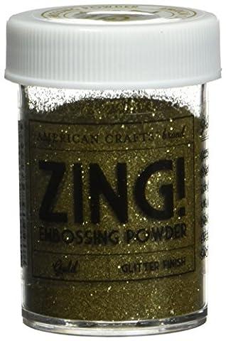 American Crafts 1-Piece 1 oz Zing Glitter Embossing Powder, Gold