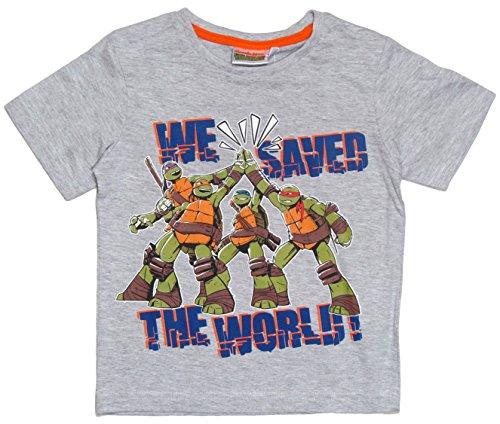 Ninja Turtles Kollektion 2015 T-Shirt 98 104 110 116 122 128 134 140 146 152 Shirt Jungen Sommer Neu Teenage Mutant Grau (98 - 104, Grau) (Ninja Turtle Hose)