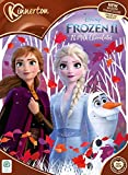 Nuovo calendario dell'avvento di Natale Disney Frozen 2 con 24 cioccolato al latte