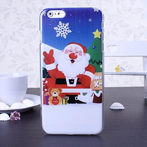 New Christmas Santa Series Snowman Deer Design Kunststoff Hard Case (Weihnachtsgeschenk) für IPhone 6S 6 ( Color : 9 , Size : IPhone 6S 6 ) 7