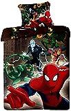 Jerry Fabrics JF0110 Bettwäscheset Spiderman 2015, 1x Bettdecke und Kissenhülle, 100% Baumwolle, 140 x 200/70 x 90 cm, Braun