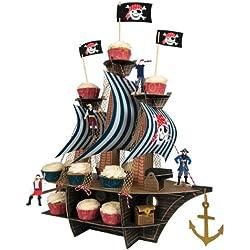 """Centro de mesa """"Ahoy There Pirate Ship""""."""
