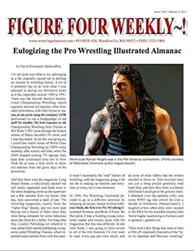 Figure Four Weekly #1024, Feb. 6, 2015 -- Eulogizing the end of the PWI Almanac (English Edition)