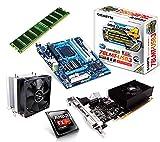 One PC Aufrüstkit | AMD FX-Series Bulldozer FX-8350, 8x 4.00GHz | montiertes Aufrüstset | Mainboard: Gigabyte GA-78LMT-USB3 | 8 GB RAM (1 x 8192 MB DDR3 Speicher 1600 MHz) | CPU Mainboard Bundle | Grafik: 4096 MB NVIDIA GeForce GT 730, DVI, HDMI, VGA | komplett fertig montiert!