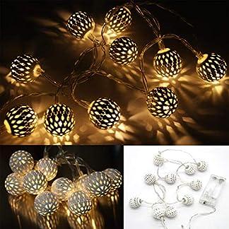 GYD-Geschmckter-Baum-Weihnachtsbaum-Weihnachts-Deko-Knstlicher-Weihnachtsbaum-Weihnachtsbaum10er-LED-Lichterkette-orientakische-Metall-Kugeln-Batteriebetrieben-warmwei-Farbe-Silber-Wei