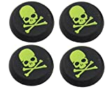 #7: Everycom Skeleton Design Silicone Thumb Sticks Caps Handle Joystick Grip Cover For With PS4/Xbox 360 Controllers - Green 2 Pair (4Pcs)